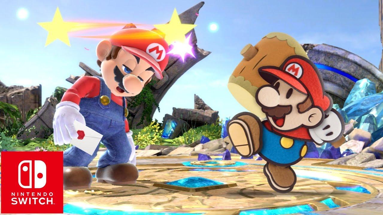 Super Smash Bros. Ultimate Paper Mario Reveal thumbnail