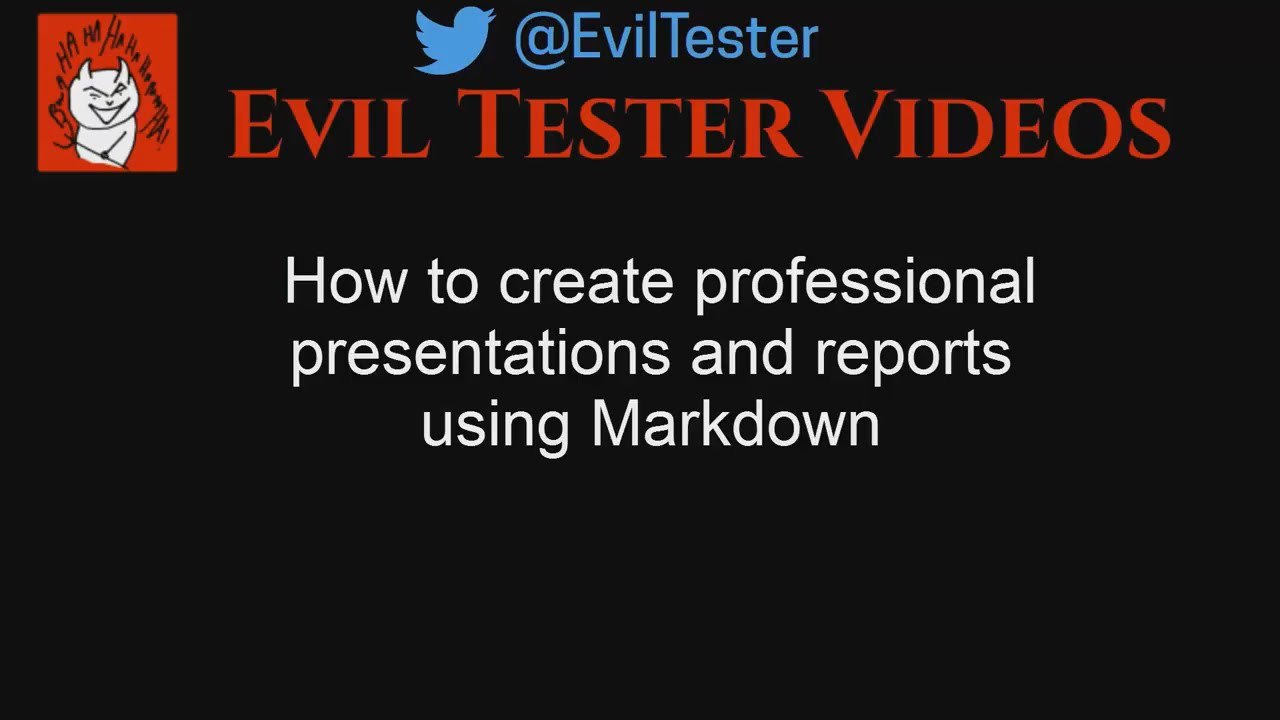 How to Create Professional Presentations using Markdown without Powerpoint  or Keynote