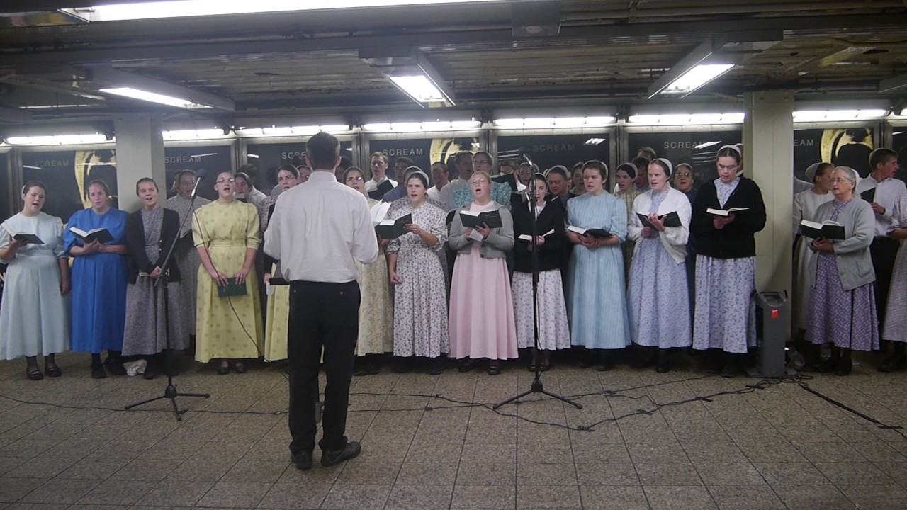 Amish Sing I Am Free Underground In Nyc Video