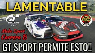 Gran Turismo Sport - LAMENTABLE , el juego ayudando a los guarr0s - Modo Sport Carrera B