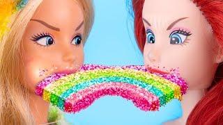 Миниатюрные сладости для Единорога и Русалки – 10 идей / Еда для Барби