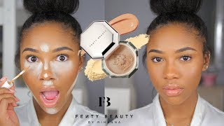 FENTY BEAUTY CONCEALER AND SETTING POWDER REVIEW