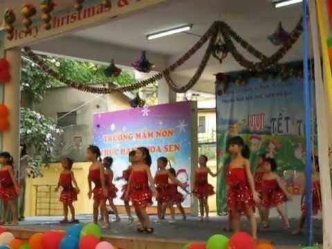 Trường mầm non thực hành Hoa Sen- Giảng Võ - Ba đình- Hà nội-- Nhảy Aerobic...