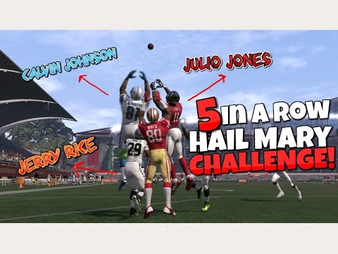 Can JERRY RICE, CALVIN JOHNSON, and JULIO JONES Catch 5 Hail Mary