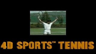4D Sports Tennis gameplay (PC Game, 1990)