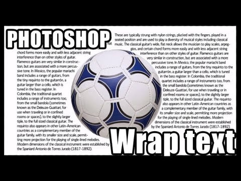 How To Wrap Text Around An Image In Photoshop