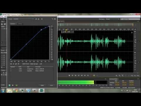 Компрессия звука в Adobe Audition CS6