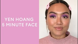 How to: Bright purple eyeshadow tutorial with Yen Hoang