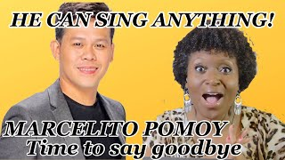 Marcelito Pomoy Time to Say Goodbye REACT ON  Pwede na Pang Fight song sa Americas Got Talent