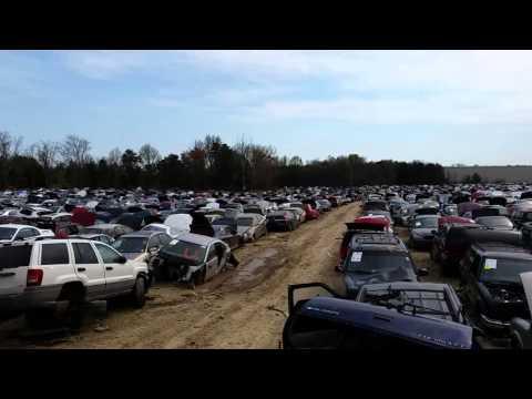 View of the Pick-a-Part junkyard in Fredericksburg, VA