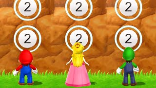 Mario Party 9 - Mario vs Peach vs Luigi - Minigames (Master Difficulty)