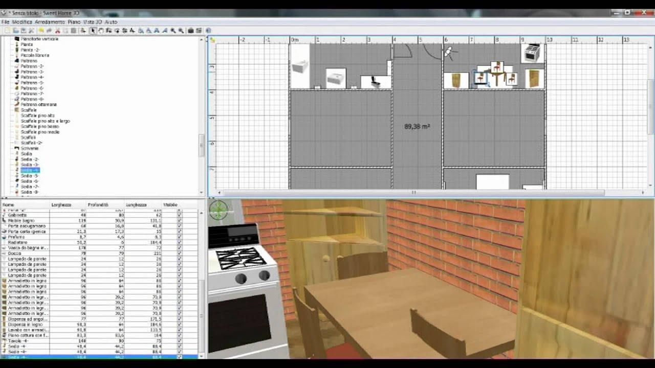 Sweet Home 3d Modelli Veneta Cucine.5 Sweet Home 3d La Cucina Youtube