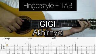Gigi - Akhirnya   Fingerstyle Guitar (FREE TAB + CHORD)