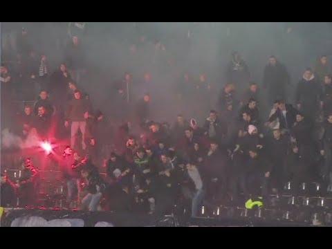 Dramatično na utakmici Partizana i Zvezde: Masovna tuča na južnoj tribini