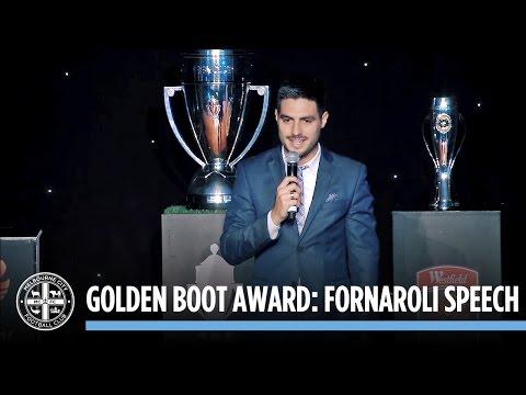 GOLDEN BOOT AWARD: Bruno Fornaroli Award Speech