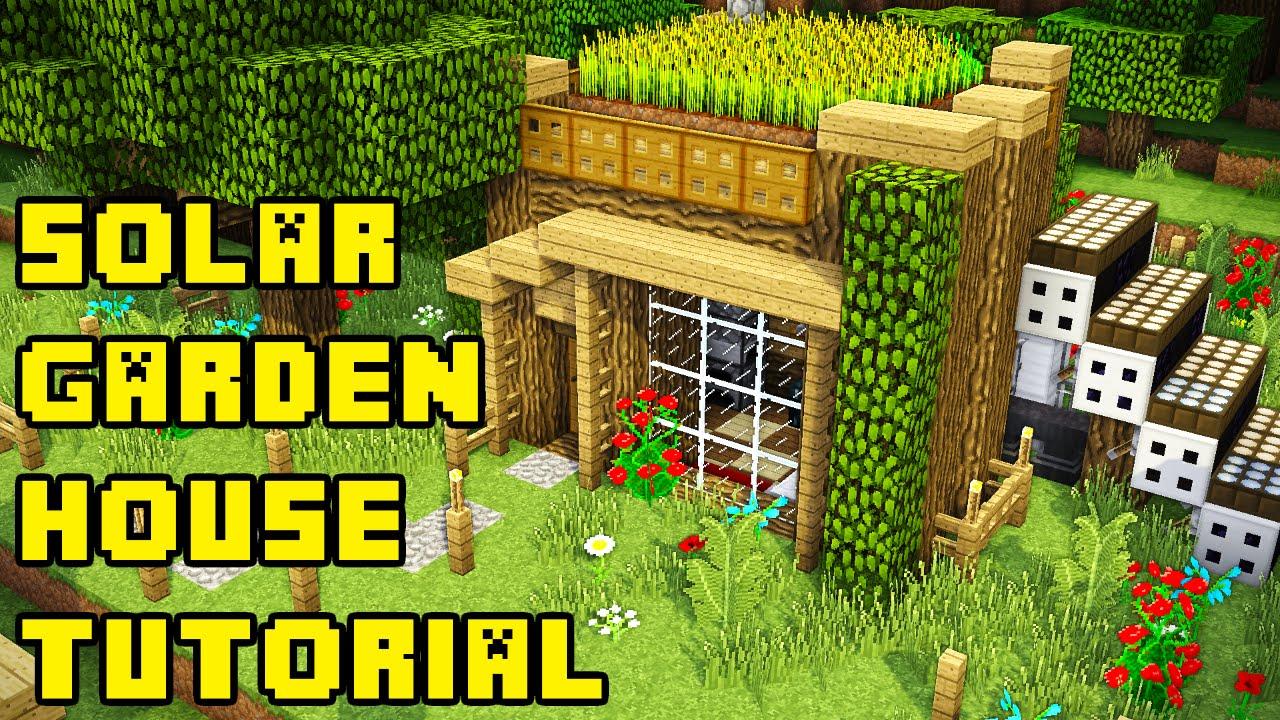 minecraft simple garden roof housebase tutorial xboxpcpeps3ps4 - Minecraft Garden