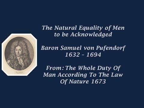 Samuel Pufendorf on equality 1673