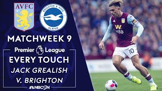 Every touch by Aston Villa's Jack Grealish vs. Brighton | Premier League | NBC Sports