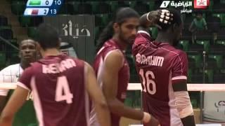 فيديو من مباراة المنتخب السعودي والقطري ضمن منافسات كرة الطائرة