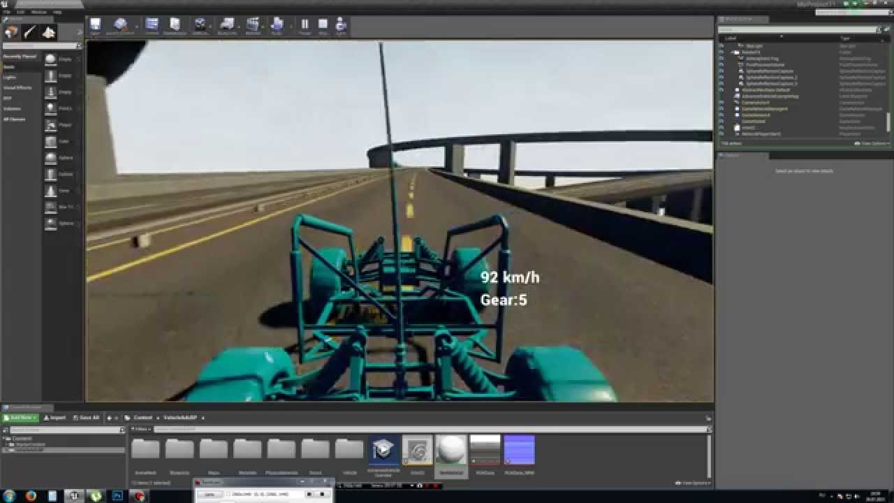 Houdini engine to Unreal engine 4 7 Procedural Intersection highway