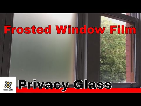 Installing Frosted Privacy Glass Film