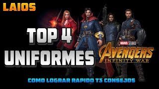 MARVEL: FUTURE FIGHT - TOP 4 MEJORES UNIFORMES AVENGERS: INFINITY WAR + MATERIALES T3