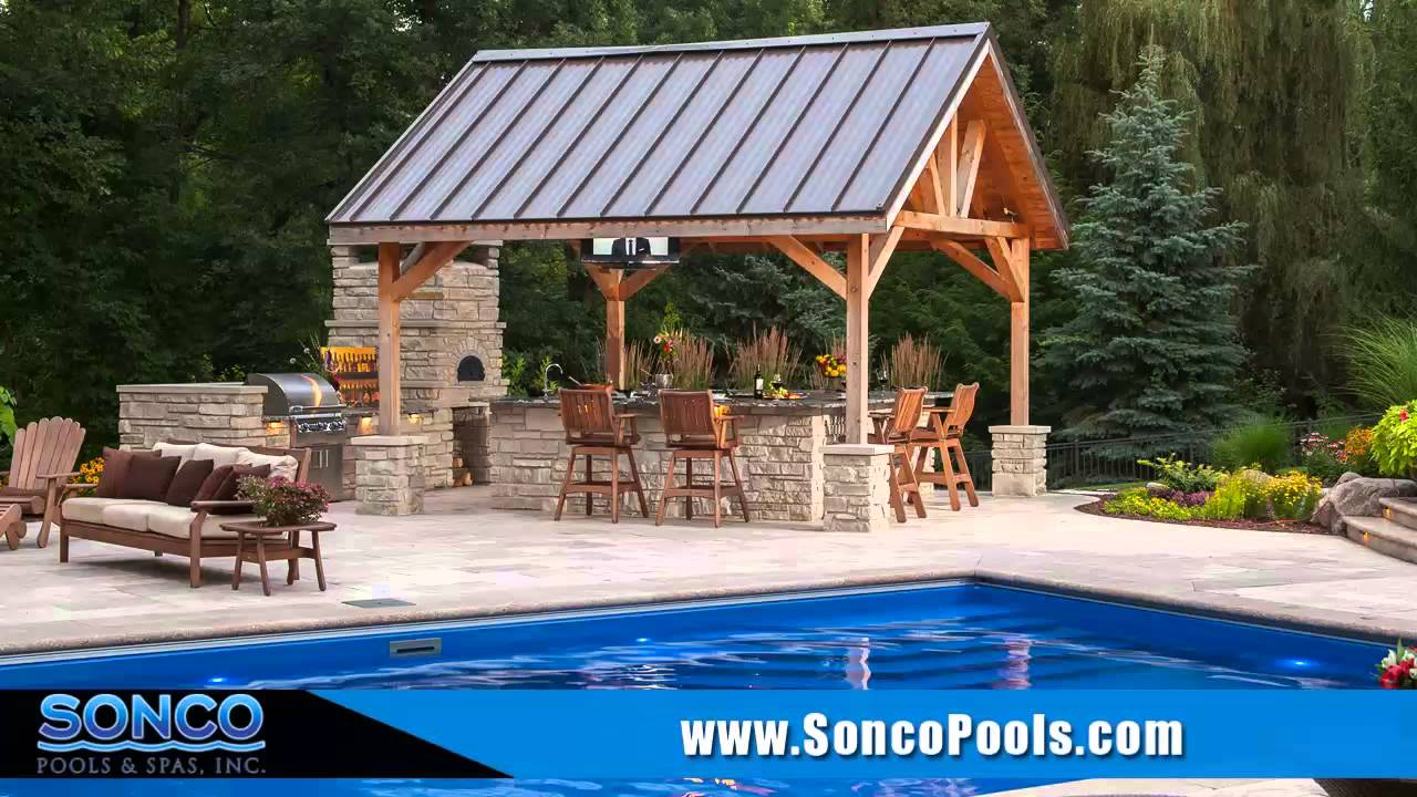 Fiberglass Swimming Pool Rockford Il Sonco Pools And Spas Backyard Livingspace Youtube