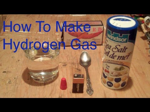 How To Make Hydrogen Gas Using a 9v Battery- Easy