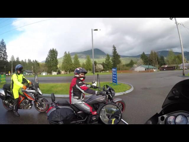 2016 Kawasaki KLR 650 Washington State Motorcycle Adventure Ride Part 6 - 4K