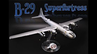 Boeing B29 Superfortress Bomber 1/120 Scale Model Airplane Kit Build Review Vintage Atlantis