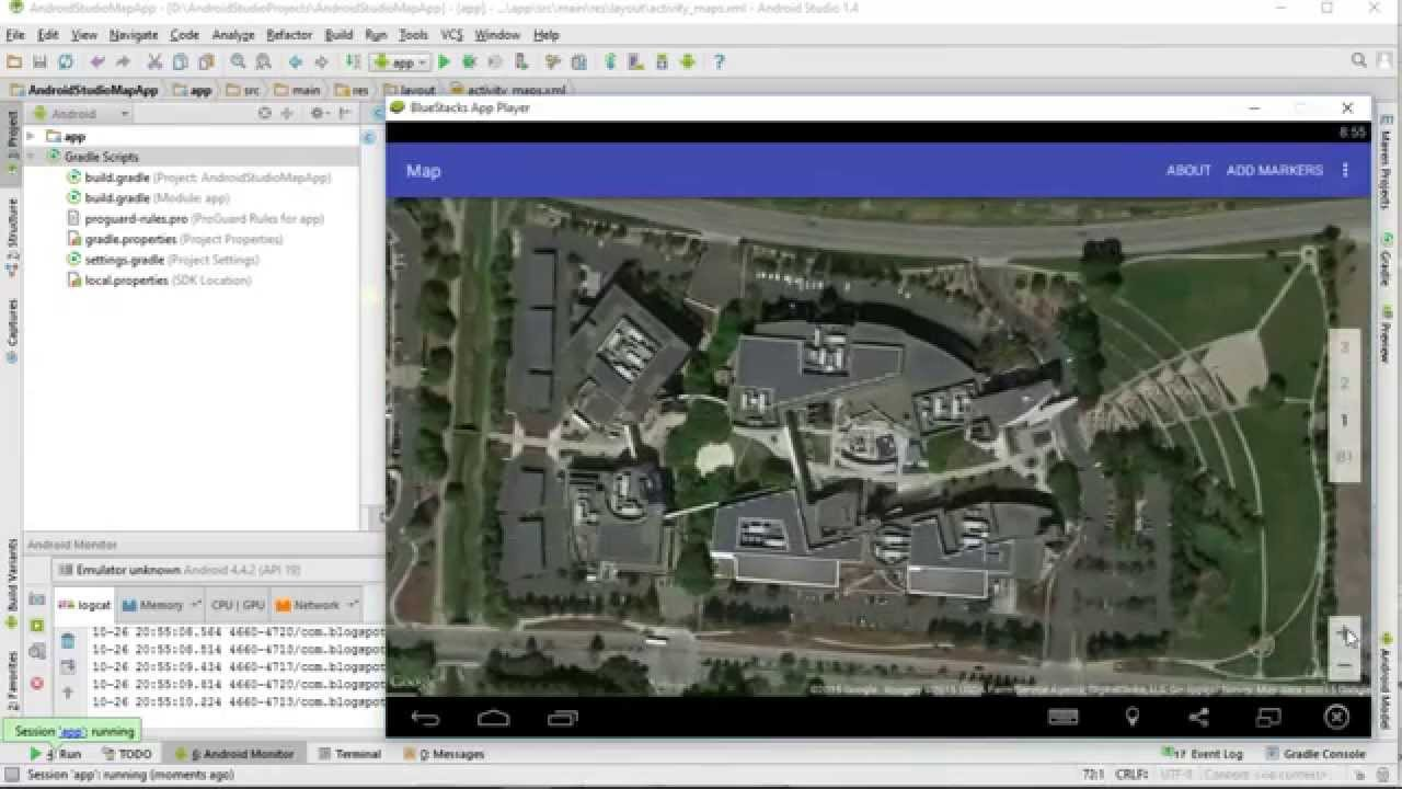 Google Maps Android API v2 - initialize map in xml - YouTube