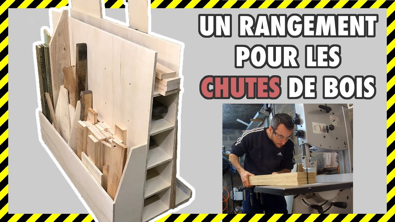 Rangement Pour Le Bois [#diy 15] fabrication d'un rangement pour chutes de bois en contre plaque