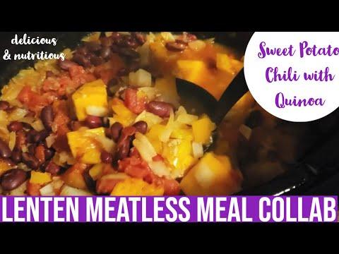 Easy Crockpot Sweet Potato Chili | Lenten Meatless Meal Collaboration