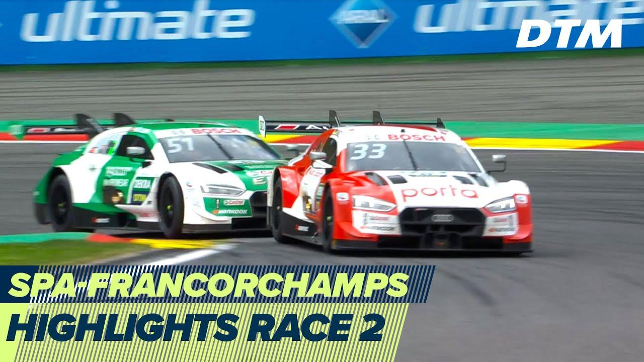 Close hunt for the win - Rast vs Müller   Highlights Race 2   DTM Spa-Francorchamps 2020