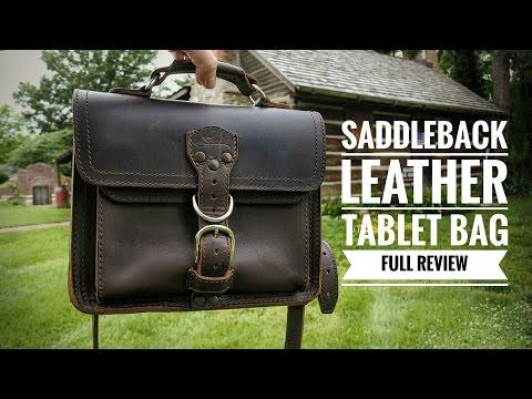 Saddleback Leather Tablet Bag (FULL REVIEW)