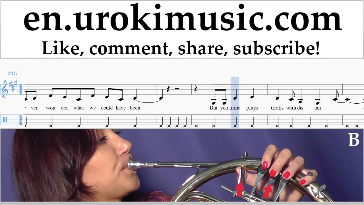 How To Play French Horn Katy Perry Miss You More Tabs Part2 Um