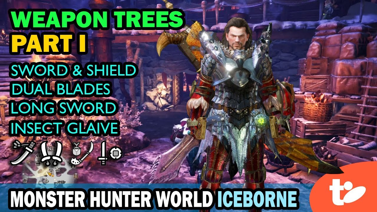 All Monster Hunter World Iceborne Weapon Trees Through Master Rank