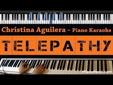 Christina Aguilera -Telepathy - Piano Karaoke / Sing Along / Cover with Lyrics