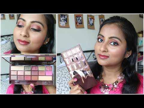 Makeup Revolution I Heart Makeup Chocolate Rose Gold Palette | Review + Tutorial | Indian Skin Tone