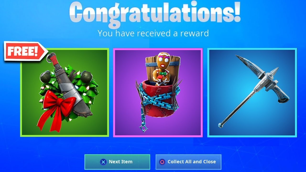 All FREE REWARDS in Fortnite! Unlock FREE Christmas Skins ...