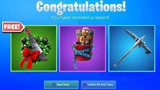 All FREE REWARDS in Fortnite! Unlock FREE Christmas Skins, Back Blings, & MORE (14 Days of Fortnite)
