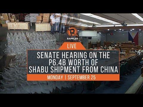 LIVE: Senate hearing on the P6.4B worth of shabu shipment from China