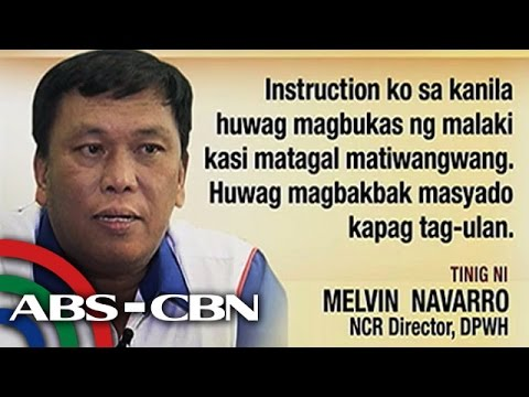 Bandila: DPWH limits road repairs to avoid massive traffic jams