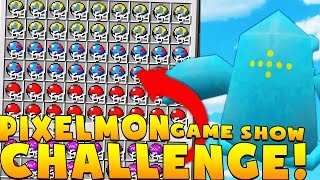 Minecraft PIXELMON GAME SHOW MINIGAME CHALLENGE - Pokemon Modded Battle Minigame