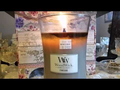 Woodwick Candle Review, Fireside