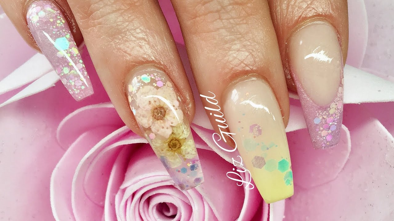 Acrylic Nails | Spring / Easter Nails - YouTube