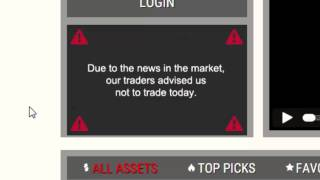 Options rider possible scam. Not trading 6th june 2015