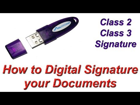 How to Digital Signature your Document | Class 2, Class 3, Digital Signature