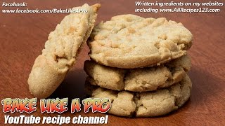 Simply The Best Peanut Butter Cookies Recipe by BakeLikeAPro