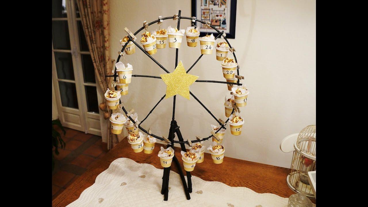 fabriquer un calendrier de l 39 avent avec une grande roue en. Black Bedroom Furniture Sets. Home Design Ideas